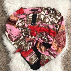Nasty Gal Silk Bodysuit